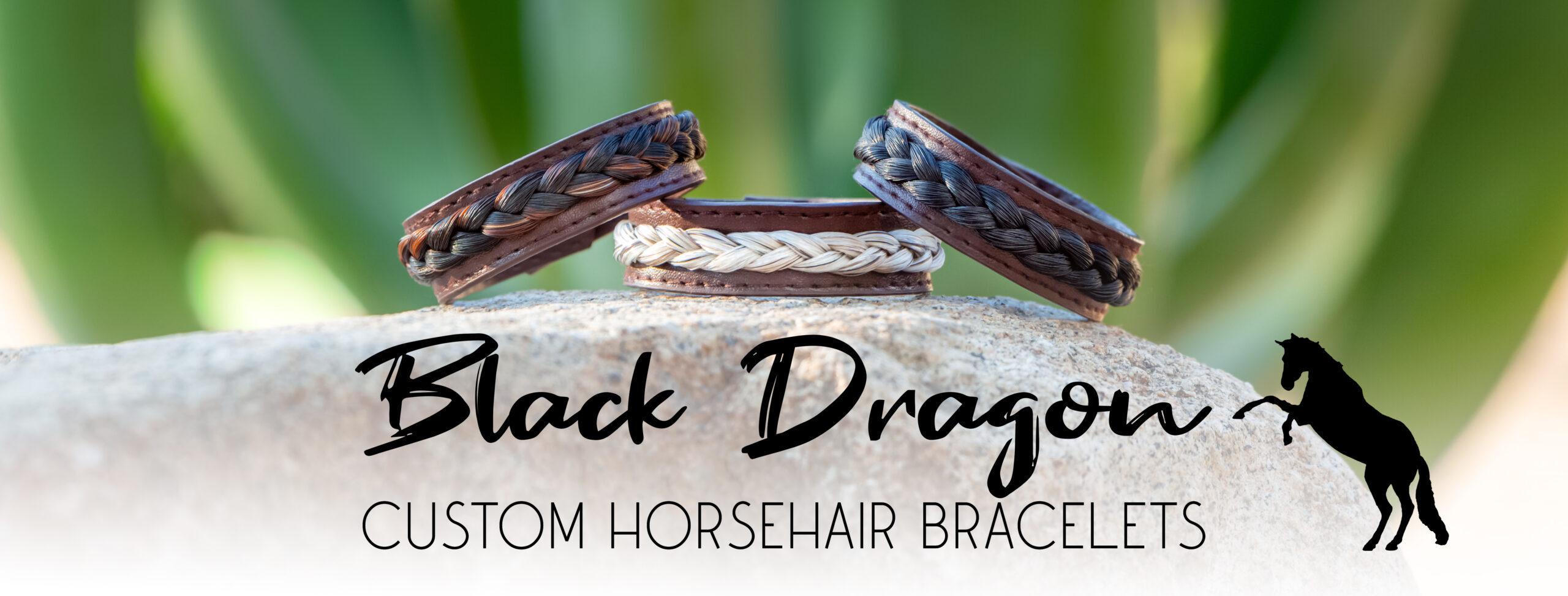 Black Dragon Custom Horsehair Bracelets