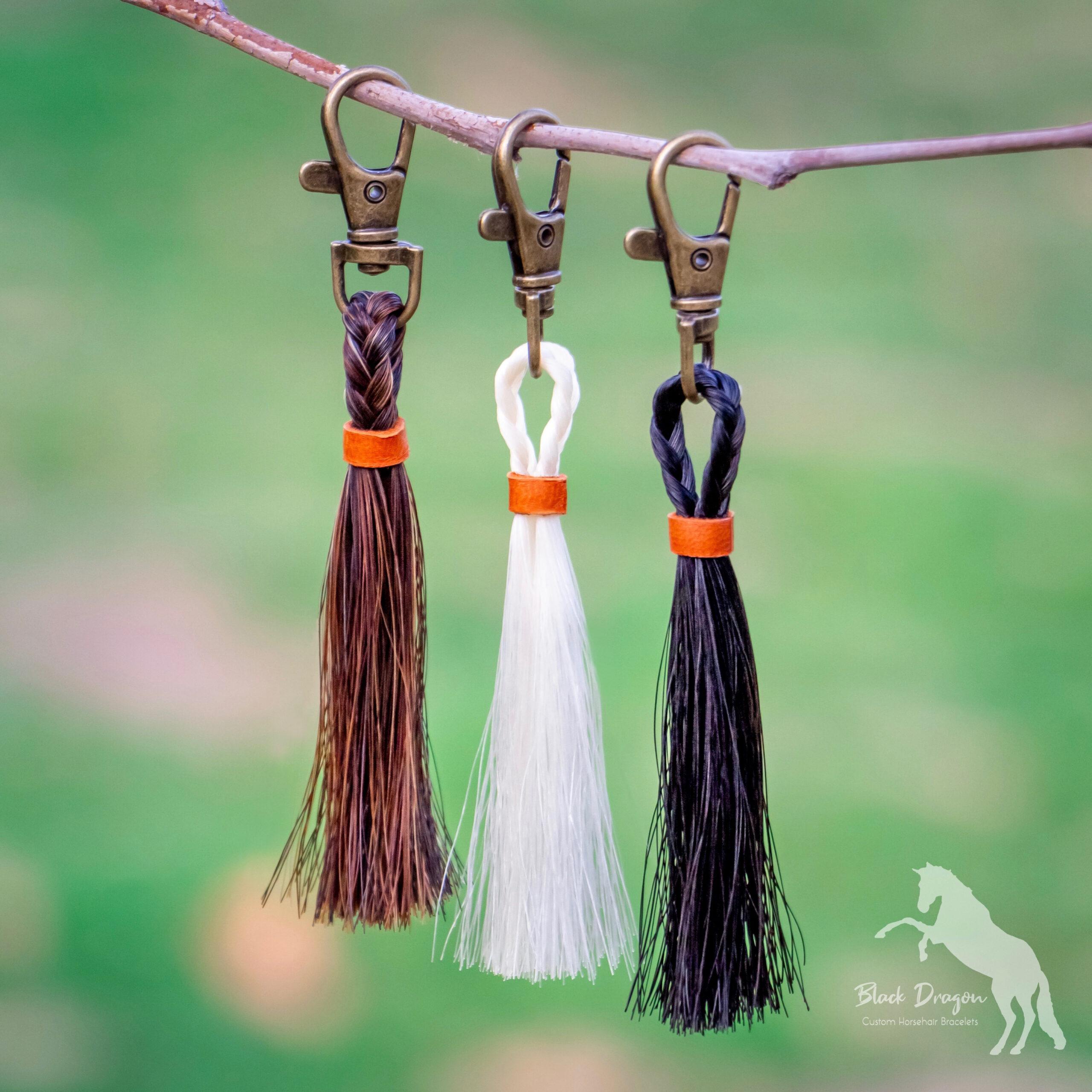 Horsehair Tassel Keychains Custom Horsehair Keepsakes